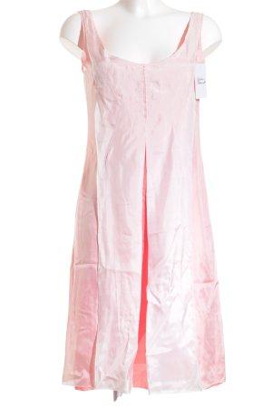 Cerruti Trägerkleid lachs-weiß klassischer Stil