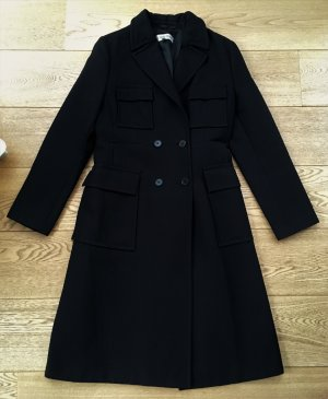 * CERRUTI * WINTER MANTEL schwarz Klassisch 100 % Wolle Business Büro