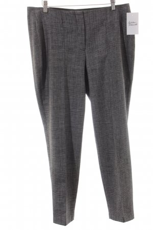 Cerruti Woolen Trousers grey-silver-colored check pattern business style