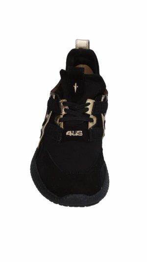 sports shoes ae383 9b84d Cesare Paciotti Sneaker stringata nero-oro