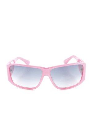 Cesare Paciotti eckige Sonnenbrille pink extravaganter Stil