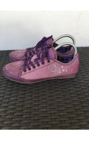 Sneakers met veters lila