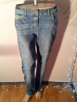 Cecil Boot Cut Jeans blue