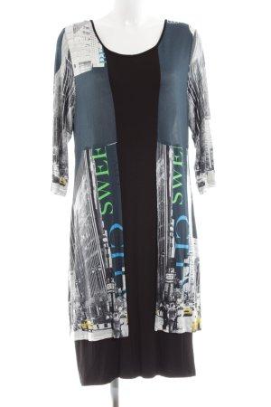 cf selection Robe en jersey imprimé avec thème style d'affaires