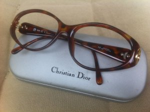 Dior Glasses cognac-coloured synthetic material