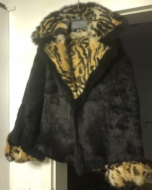 Chaarm NY Damen Pelz Leder Wende Jacke S Unterarmbreite 46cm
