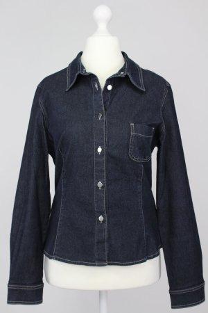 Chaloc Jeansbluse blau Größe 40 1711170540322