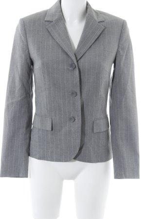 Chaloc Kurz-Blazer grau-weiß Nadelstreifen Business-Look