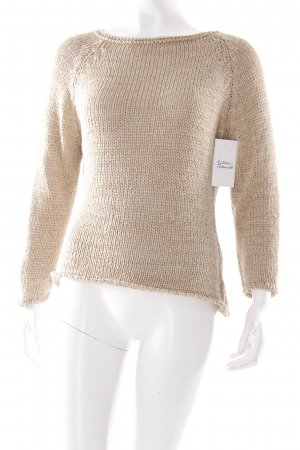 Chaloc Knitted Sweater oatmeal simple style