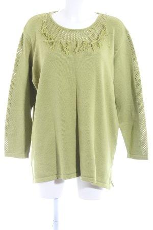 Chalou Strickpullover grasgrün schlichter Stil