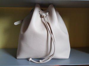 champagnerfarbener Bucket Bag