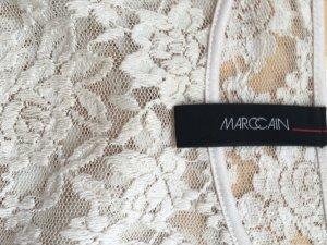 Champagnerfarbenes Spitzenkleid von Marc Cain