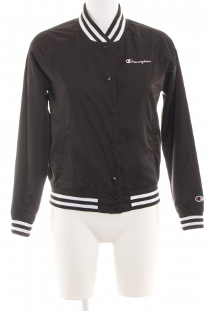 Champion Bomber Jacket black-white casual look