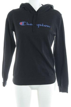 Champion Maglione con cappuccio nero modello web stile casual