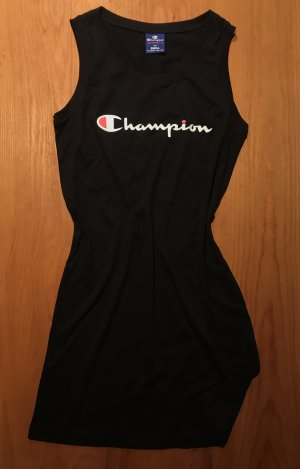 Champion Vestido estilo camisa negro Algodón