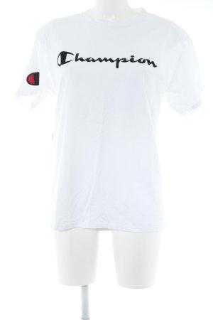 Champion Oversized Shirt wollweiß-schwarz Casual-Look