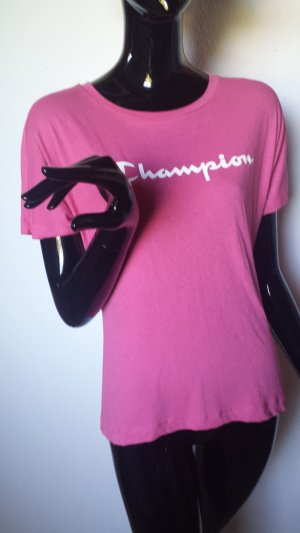 Champion T-Shirt pink cotton