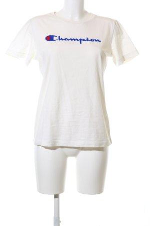 Champion T-Shirt weiß Motivdruck Casual-Look