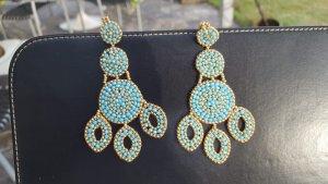 Miguel de Luna Ear stud gold-colored-turquoise