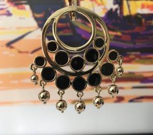 Chandelier Ohrring Dyrberg/Kern, Gold, schwarz