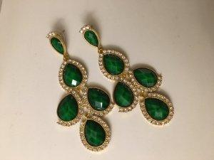 Chandelier-Ohrringe grün, neu