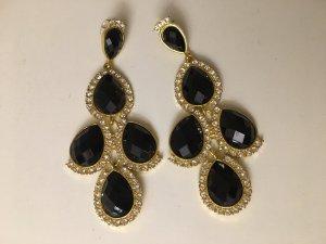 Chandelier-Ohrringe schwarz, neu