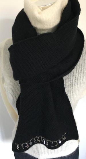 Chanel Bufanda de cachemir negro Cachemir
