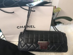 Chanel Borsa a tracolla blu scuro-nero Pelle