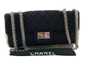 Chanel 2.55 balck and white textile
