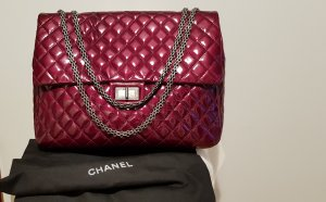 Chanel Borsa a spalla bordeaux