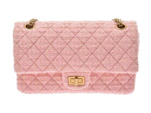 Chanel Handbag pink mixture fibre