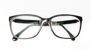 Chanel Glasses black-silver-colored acetate