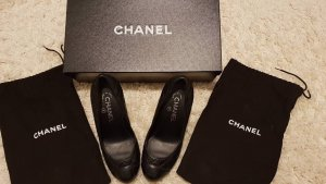 Chanel Plateauzool pumps zwart