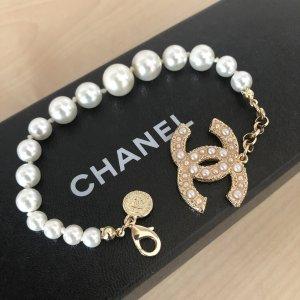 Chanel Bracelet gold-colored-white