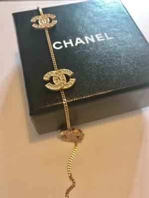 Chanel Armband vergoldet CC Logos Swarovski