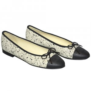 Chanel Ballerines crème-noir