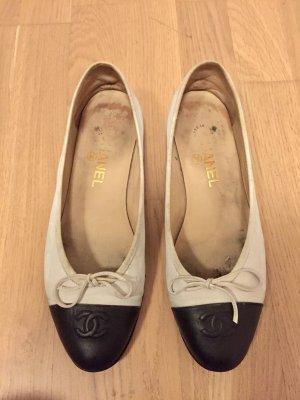 Chanel Ballerines blanc-noir