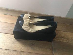 Chanel Ballerina's met kant zwart-room Leer