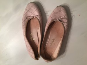 Chanel Ballerines rose chair cuir