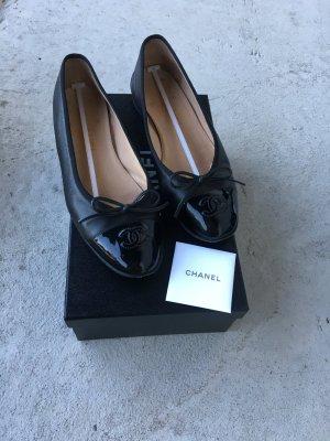 Chanel Ballerinas lackschwarz