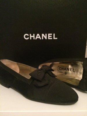 Chanel ballerinas / loafer in schwarz
