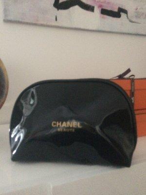 Chanel Trousse à maquillage noir matériel synthétique