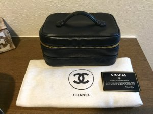 Chanel Beauty Case schwarzes Leder