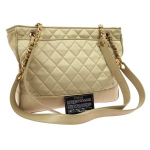 Chanel Shopper brun sable cuir