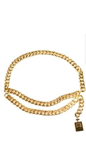 Chanel Cinturón de cadena color oro