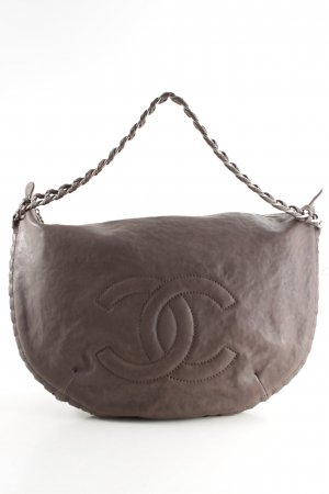 Chanel Beuteltasche taupe Monogram-Muster Casual-Look