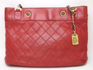 CHANEL Bi-Color Lamb Skin  Chain Shoulder Tote Bag