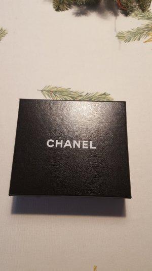 Chanel Bicolor Lammhaut Geldbörse Schwarz