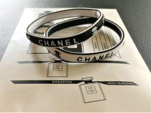 Chanel Black & White Elastische Haarschmuck,Armschmuck oder Tascheschmuck Neu--