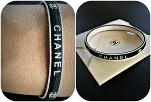 Chanel Black & White Elastische Haarschmuck,Armschmuck oder Tascheschmuck Neu-